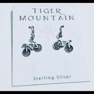 Tiger Mountain Sterling Silver Bicycle earrings